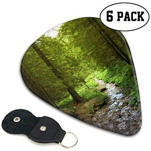 Beautiful Scenery In The Mountain Forest Púas de guitarra personalizadas Guitar-picks 6...