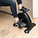 DANGRUUT Best Pedal Exerciser, Portable Mini Exercise Bike Cycle, Stationary Exercise Leg Peddler, Hands and Feet Trainer for Home Use and Office Desk, Low Impact (Black)