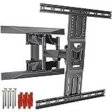 ZIXIXI Soporte de pared para TV, soporte de pared de doble brazo, soporte de TV – montaje inclinable y giratorio, brazos dobles sólidos resistentes de hasta 45 kg, para varios espacios