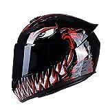 MotuoMr BSDDP Unisex-Adult Full Face Motorcycle Helmet DOT Approved...