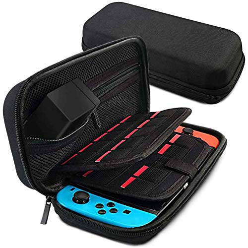 Carrying Case for Nintendo Switch, VANJUNN Switch Bag Case with 20 Game Cartridges Card Slots and Nylon Protective Travel Storage Pouch for Nintendo Switch Accessories