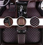 Muchkey Tapis de Sol pour Audi Q5 2009-2017 en Cuir Imperméables Tapis de Voiture Accessoires Noir Rouge