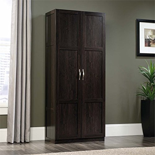 Sauder 419496 Miscellaneous Storage Storage Cabinet, L: 29.61 x W: 16.02 x H: 71.50, Cinnamon Cherry finish