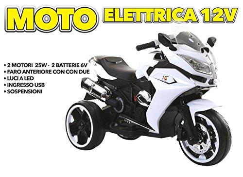 MOTO ELETTRICA 12V BIANCO- GV-5288