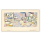 Cuadro de arte de pared de lienzo.(Cote De Provence) reproducción de pintura famosa de Paul Klee para carteles de decoración del hogar de la sala de estar 60x108cm sin marco