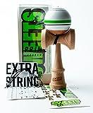 Sweets Kendamas Prime Sport Stripe Kendama - Sticky Paint, Stripe Design, Extra String Accessory Gift Bundle (Home Team)