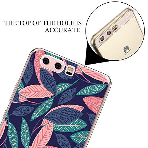 Neivi Huawei P10 Hülle, Huawei P10 Plus Hülle Case Silikon Crystal Clear TPU Durchsichtig Handyhülle Schutzhülle Case Backcover Schutz Bumper Slimcase für Huawei P10 Plus (Laub, Huawei P10) - 5