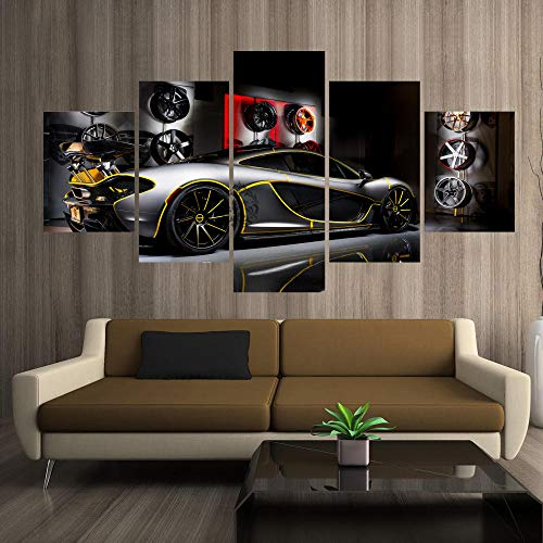147Tdfc Kunstdrucke Moderne Druck Malerei Hintergrund Dekoration Modulare 5 Teiliges Wandbild Mclaren Supercar Tuning Poster Wandkunst Leinwand Creative Geschenk Kunstwerk 150X80 cm