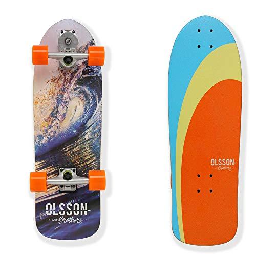 7 Capas Arce Duro WRISCG Surfskate Skateboard Completo Arce Tablero 78/×24cm Carga de hasta 150 kg para Principiantes y Profesionales Rodamientos de Bolas ABEC Alta velicidad