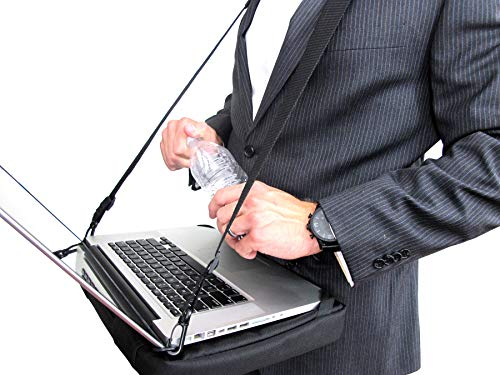 "HABz Laptop Harness & Sleeve Bag | Hands Free Portable Adjustable Wearable Desk for Laptop, Tablet, Notepad, MacBook, etc. Fits up to 18"" Laptops"