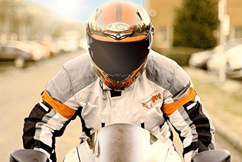 Motorradjacke Textil Wasserdicht Winddicht Mit Protektoren - 4
