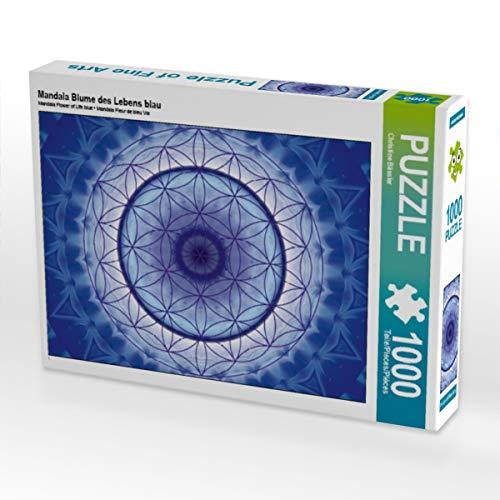 CALVENDO Puzzle Mandala Blume des Lebens blau 1000 Teile Lege-Größe 64 x 48 cm Foto-Puzzle Bild von Christine Bässler