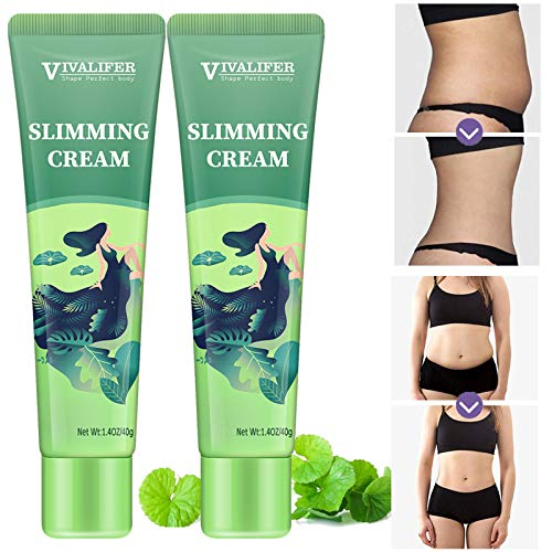 2 Pack Hot Cream, Slimming Cream for Weight Loss, Body Fat Burning Cream for Reducing Belly, Legs, Arms, Thigh and Waist Fat, Anti Cellulite, Quick Slimming