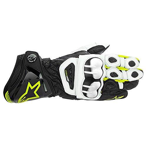 Alpinestars Gp Pro Motorradhandschuhe, Farbe schwarz-Weiss-Neongelb, Größe 3XL