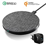Wefunix Cargador Inalámbrico Rápido,7.5W/10W Base de Carga Inalámbrica Qi fast Wireless Charger USB C para iPhone 12 mini 11 XS Max XR X 8 SE,Mi Mix 2S,Samsung Galaxy S10 S9 Note 20/10/9 Huawei P30Pro