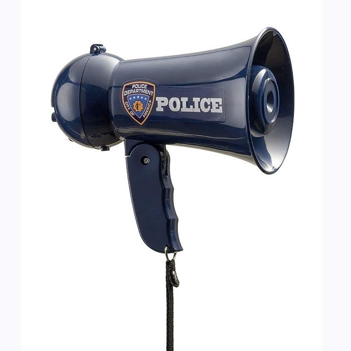 Megafono dress up america - megaphone ufficiale di polizia con sirena suono fo toy colore blue 910