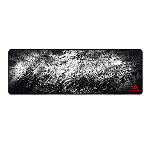 Redragon P018 Gaming Mouse Pad Large Extended Thick Version Stitched Edges Waterproof Pixel-Perfect Accuracy Optimized for All Computer Mouse Sensitivity MMO and Sensors Fits Both Mouse & Keyboard