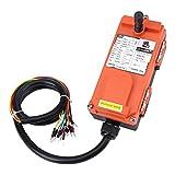 DC 24V Telecomando Wireless Industriale Interruttore, IP65 Paranco elettrico controllo remoto, Trasmettitore + ricevitore + cavo da 1 metro (24V Un lanciatore un ricevitore)