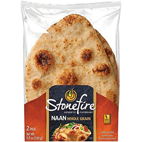 Stonefire Whole Grain Tandoori Naan Bread 8.8 Ounce [Pack of 3]