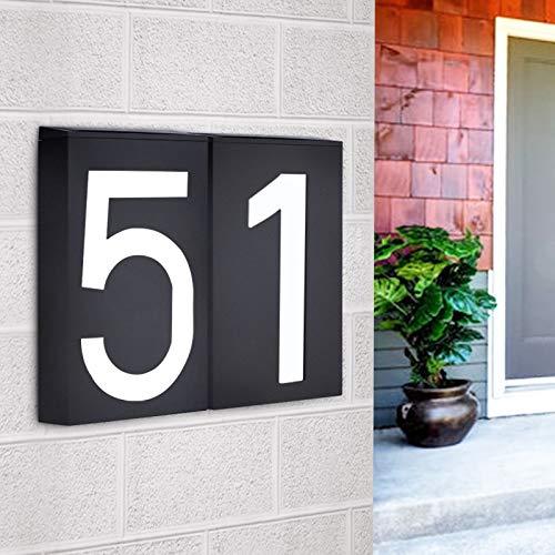 Blossion Muestra Placa Hotal Puerta de la luz Solar de la Pared Digital Número LED Casa Solar Power Dirección Número de Inscripción Número lámpara de Calle La Placa Personalizada (Wattage : Number 2)