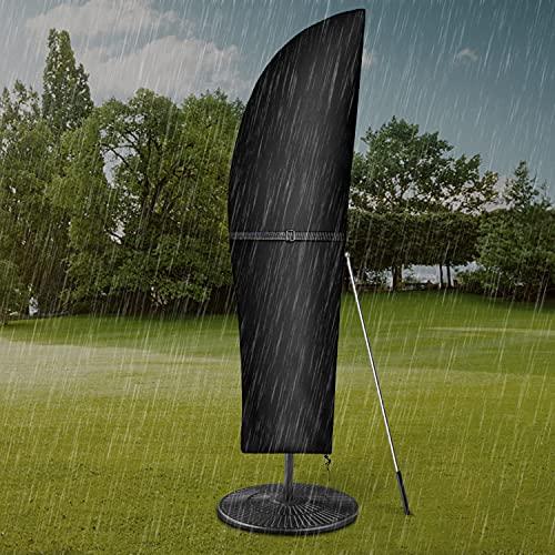 Dokon Ampelschirm Schutzhülle mit Stab, Sonnenschirm Abdeckung 2 bis 4 M Große Ampelschirm Schutzhülle, Wetterfeste, UV-beständig, Schneesicher, 420D Oxford Gewebe Sonnenschirm Hülle (265x40/70/50cm)