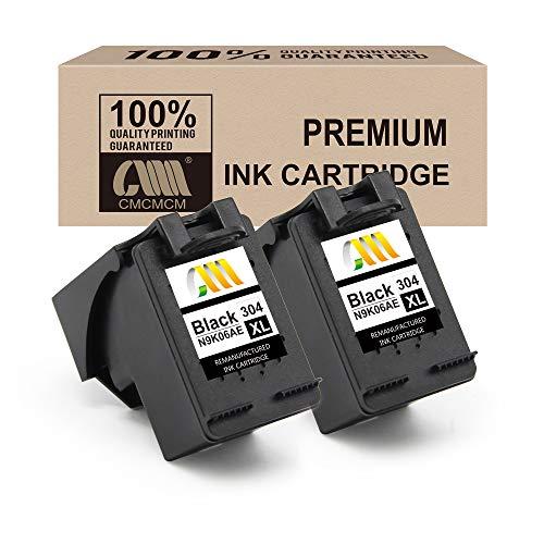 CMCMCM Reemplazo de Cartucho de Tinta remanufacturado para HP 304 XL 304XL Work para HP DeskJet 3720 3730 3732 3735 2620 2630 HP Envy 5020 2 Negro