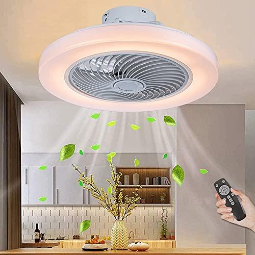 Ventilador De Techo Con Iluminación Y Control Remoto LED Lámpara De Techo Silenciosa Luz De Techo Con Ventilador Luz De Ventilador Invisible Para Habitación De Niños Sala De Estar Dormitorio Oficina