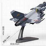 ZWJWJ Sculpture Modèle 1/10 J-10 King Dragon/F-10 Pioneer Combattant Combattant Chasse Moulé en Métal Avion Modèle Jouet