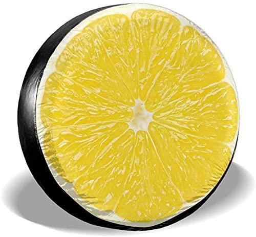 Cubierta de neumático de repuesto de color limón,poliéster,universal,de 17 pulgadas,cubierta de neumático de rueda de repuesto para remolques,vehículos recreativos,SUV,ruedas de camiones,camiones,car