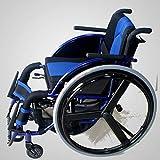 ZXL@ED Älteres Leichtklapp Rollstuhles Medical Erwachsene Medizinisches Material, Freizeit Sport Rollstuhl Ältere Multifunktionale Sichere Verwendung Armlehne -