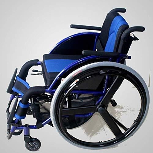 Yaeele a prueba de golpes Silla de rehabilitación médica, en silla de ruedas, silla de ruedas plegable ligero Suministros Médicos conducción médica edad, Ocio Deportes silla de ruedas multifun