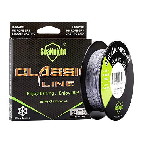 SeaKnight - Sedal con trenzado mejorado y más duradero, 300 m, de 2,7 a 36,3 kg, sedal fino súper trenzado, más fuerte y más suave