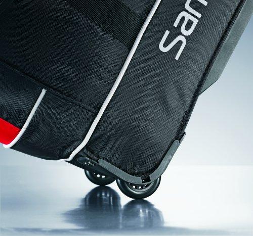 Samsonite Andante Wheeled Rolling Duffel Bag, Black/Red, 22-Inch