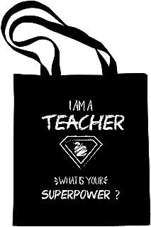 Teacher Tote Bag, 100% cotton 12 Oz Reusable, Teacher Gifts, Teacher Bag, Graduation gift, I Am A Teacher What Is Your Sup...