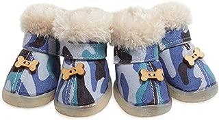 Colorfulhouse® Cute Bone Pet Snow Boots Nonslip Winter Dog Boots 4 Pcs