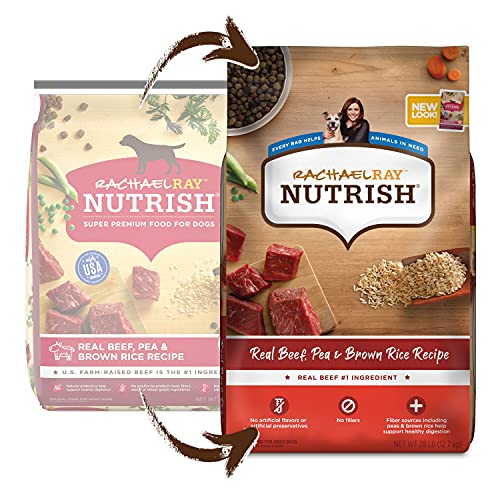 Rachael Ray Nutrish Real Beef, Pea & Brown Rice Recipe Dry Dog Food, 28 Pounds