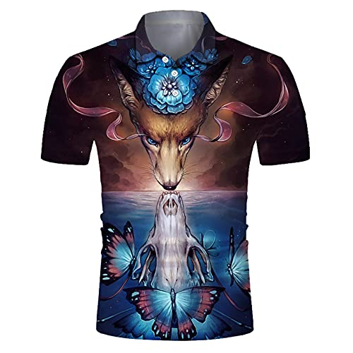 SSBZYES Camiseta para Hombre Camiseta De Manga Corta para Hombre Camiseta Polo para Hombre Camiseta Estampada para Hombre Camiseta con Solapa De Secado Rápido Top Informal Suelto