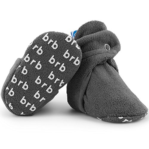 Fleece Baby Booties - Organic Cotton & Gripper Bottoms