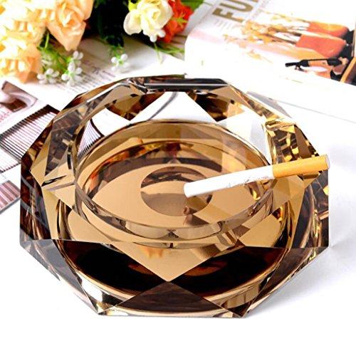 cendrier Xuan - worth having cristal à l'anis étoilé en or cristal Décoration créative de mode de salon de mode (taille : 20*20*4cm)
