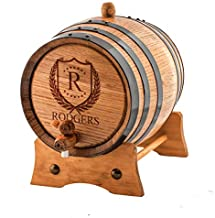 (1 Liter) Personalized - Vintage Customized American White Oak Aging Barrel - Barrel Aged