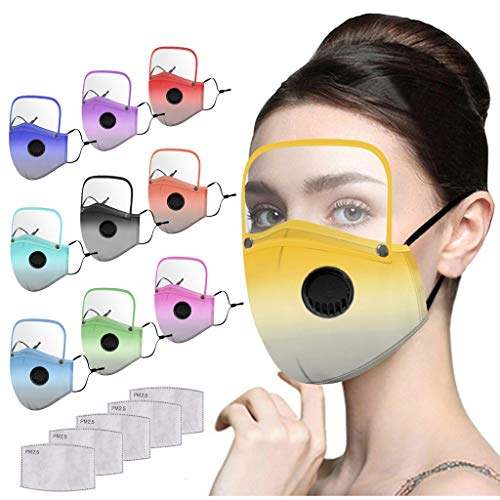 Lowest Price! Reusable and Breathable, Face_Bandanas with Breathing_Valve and Eye/Shield, Mouth Face...