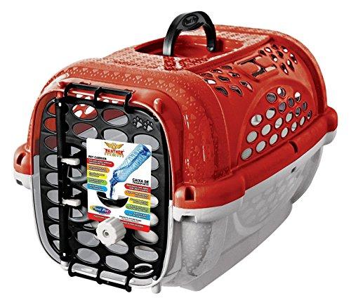 Caixa Transporte Panther Pop N.3 Vermelh Plast Pet para Cães