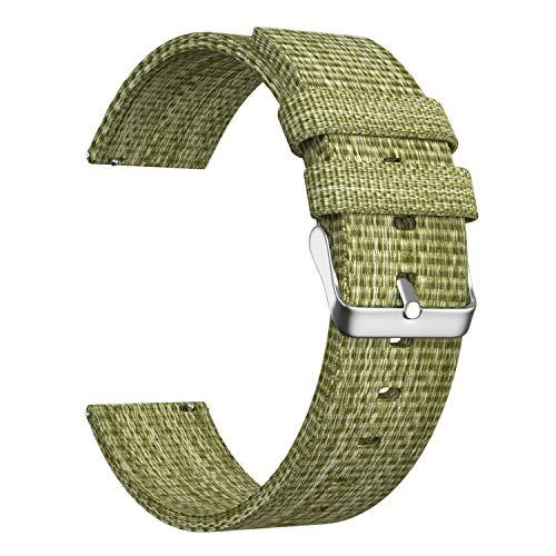 Ullchro Nylon Correa Reloj Calidad Alta Correa Relojes Militar del ejército - 16mm, 18mm, 20mm, 22mm, 24mm Correa Reloj con Hebilla de Acero Inoxidable (20mm, Green)