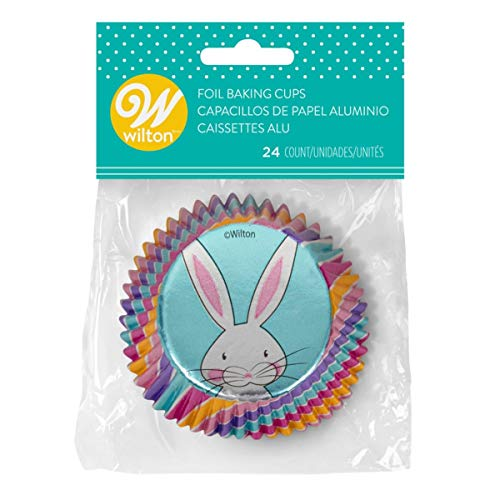 WILTON Easter Bunny Foil Baking Cups 24 Count, 24 CT