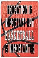 Rogue River タクティカル 面白い バスケットボール プレイヤー メタルブリキ看板 壁装飾 男の洞窟 バー 教育は重要 B ボール