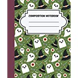 halloween ghost Composition Notebook: Halloween Wide Ruled, Gifts for Kids and Adults, pattern of halloween ghost
