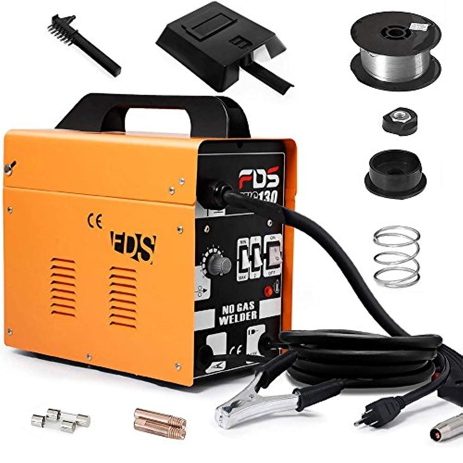 Goplus MIG 130 Welder Flux Core Wire Automatic Feed Welding Machine w/Free Mask wgvq5925988