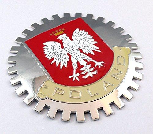 Poland Grille Badge for car Truck Grill Mount Polska Polish Flag