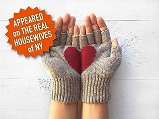 Heart Gloves, Fingerless Heart Gloves, Valentine's Day Gift Idea, Gift For Woman