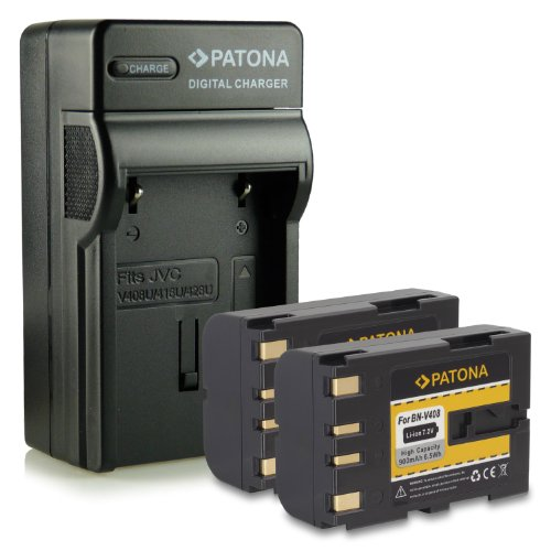 Bundle - 4en1 Cargador + 2x Batería BN-V408 / BN-V408U para
